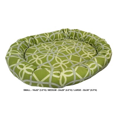 Keene Indoor/Outdoor Bolster Pet Bed Size: Medium, Color: Kiwi