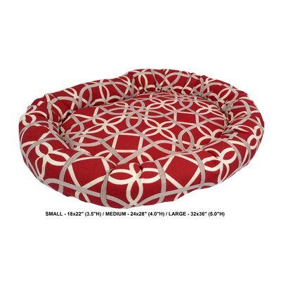 Keene Indoor/Outdoor Bolster Pet Bed Size: Medium, Color: Cherry