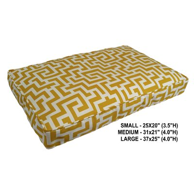Keys Indoor/Outdoor Pet Bed Size: Medium, Color: Banana