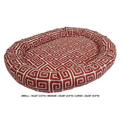 Daniella Neo Keys Indoor/Outdoor Bolster Pet Bed Size: Large, Color: Poppy