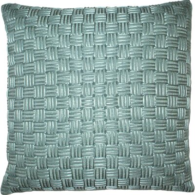 Basket Weave Cord Throw Pillow Color: Mineral
