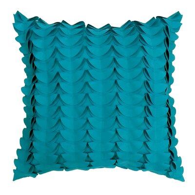 Half Moon Dimensional Laser Outdoor Throw Pillow Color: Aqua