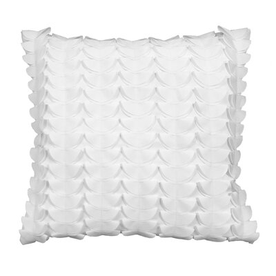 Half Moon Dimensional Laser Outdoor Throw Pillow Color: White