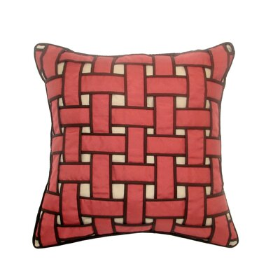 Basket Weave Outdoor Throw Pillow Color: Neutral