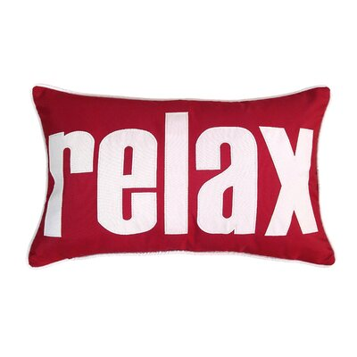 Relax Indoor/Outdoor Lumbar Pillow Color: Red/White