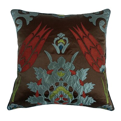 Laser Moroccan Tile Throw Pillow Color: Spice