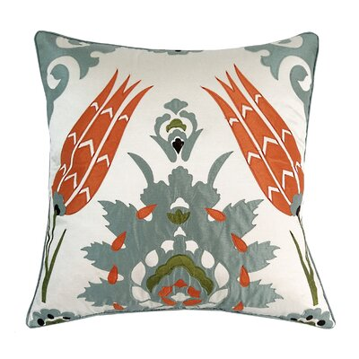 Laser Moroccan Tile Throw Pillow Color: Mineral
