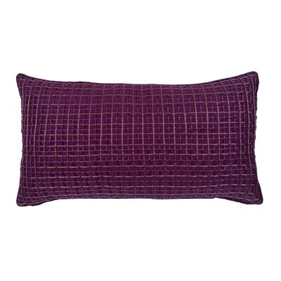 Double Grid Cord Lumbar Pillow Color: Purple