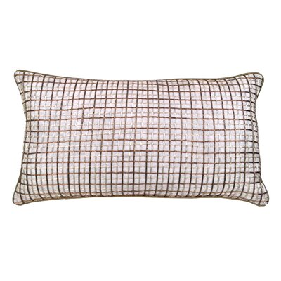 Double Grid Cord Lumbar Pillow Color: Toffee