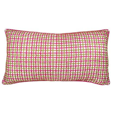 Double Grid Cord Lumbar Pillow Color: Fuchsia