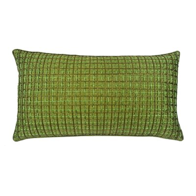 Double Grid Cord Lumbar Pillow Color: Lagoon