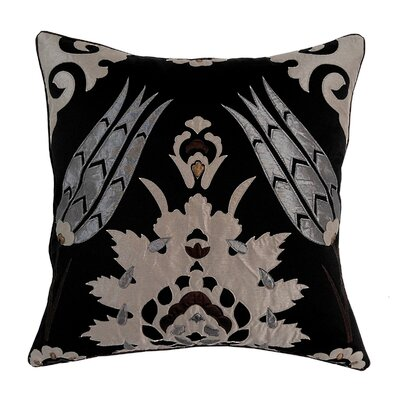 Laser Moroccan Tile Throw Pillow Color: Black