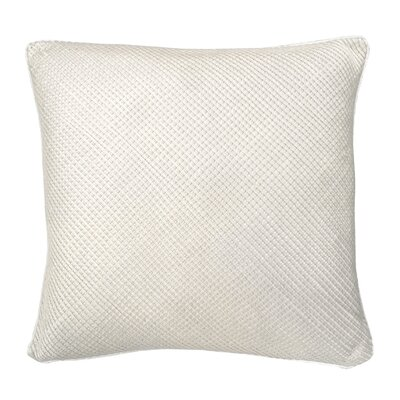 Mini Grid Corp Throw Pillow Color: Cream
