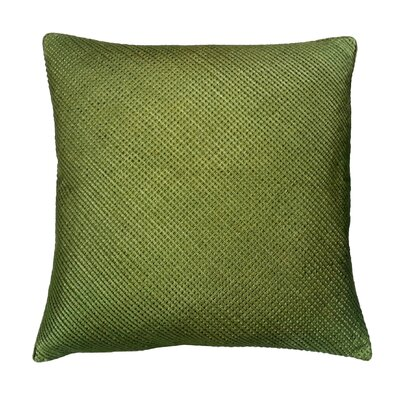 Mini Grid Corp Throw Pillow Color: Lime