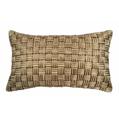 Basket Weave Lumbar Pillow Color: Antique Gold