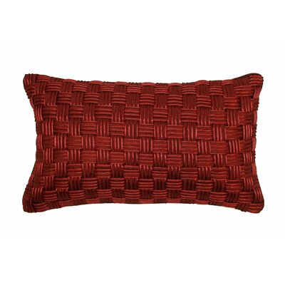 Basket Weave Lumbar Pillow Color: Brick