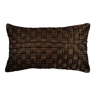Basket Weave Lumbar Pillow Color: Chocolate