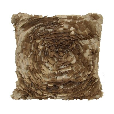 Cabbage Rose Throw Pillow Color: Toffee