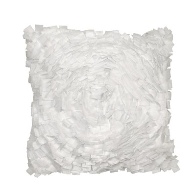 Cabbage Rose Throw Pillow Color: White
