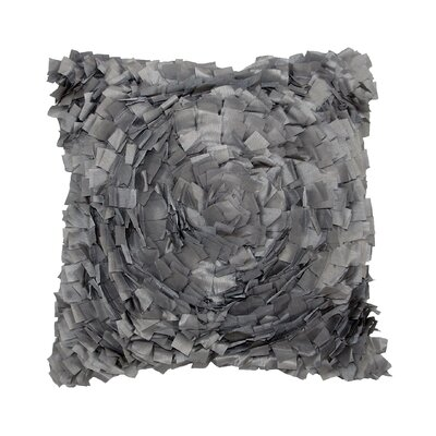 Cabbage Rose Throw Pillow Color: Gray