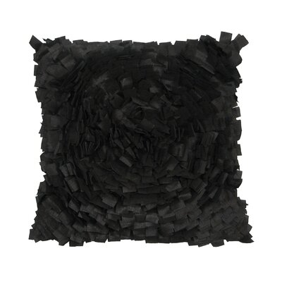 Cabbage Rose Throw Pillow Color: Black