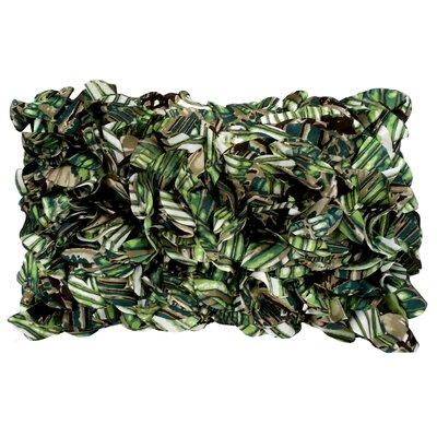 Chiffon Lumbar Pillow Color: Lime