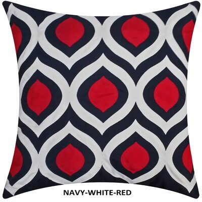 Cat Eye Indoor/Outdoor Throw Pillow Color: Navy/Red