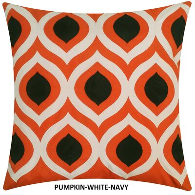 Cat Eye Indoor/Outdoor Throw Pillow Color: Pumpkin/Navy
