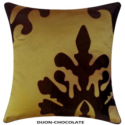 Damask Laser Throw Pillow Color: Dijon/Chocolate