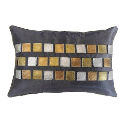 Metallic Tiles Lumbar Pillow Color: Smoke