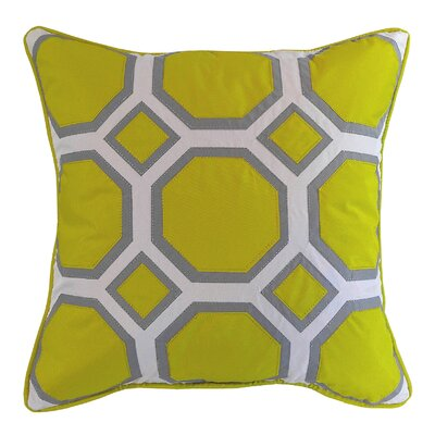 Honeycomb Indoor/Outdoor Throw Pillow Color: Citron/Gray