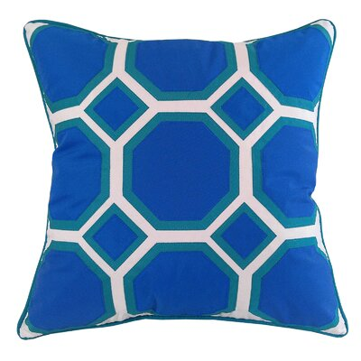Honeycomb Indoor/Outdoor Throw Pillow Color: Royal/Turquoise