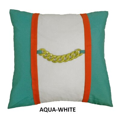 Chain Link Nautical Indoor/Outdoor Throw Pillow Color: Navy/White