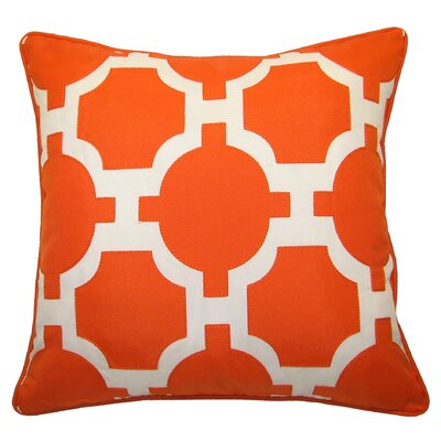 Garden Indoor/Outdoor Lumbar Pillow Color: Orange/White