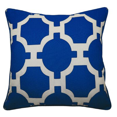 Garden Links Indoor/Outdoor Throw Pillow Color: Royal/White