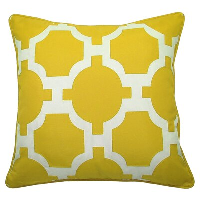 Garden Links Indoor/Outdoor Throw Pillow Color: Citron/White