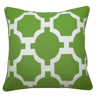 Garden Links Indoor/Outdoor Throw Pillow Color: Leaf/White