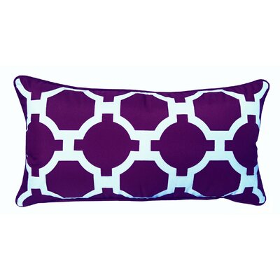 Garden Links Indoor/Outdoor Lumbar Pillow Color: Purple