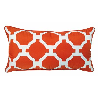 Garden Links Indoor/Outdoor Lumbar Pillow Color: Orange