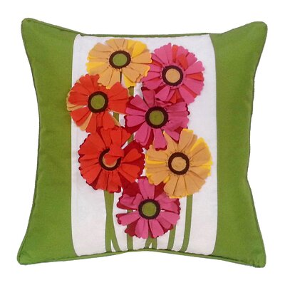 Gerber Daisy Dimensional Indoor/Outdoor Throw Pillow