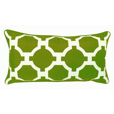Garden Links Indoor/Outdoor Lumbar Pillow Color: Leaf