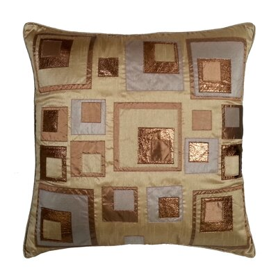 Stacked Square Throw Pillow Color: Copper