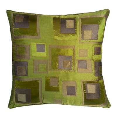 Stacked Square Throw Pillow Color: Lime