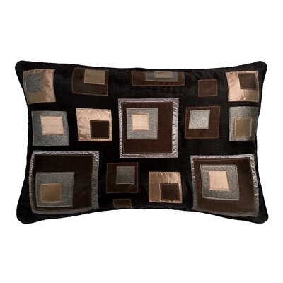 Stacked Square Lumbar Pillow Color: Black