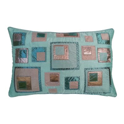 Stacked Square Lumbar Pillow Color: Mineral