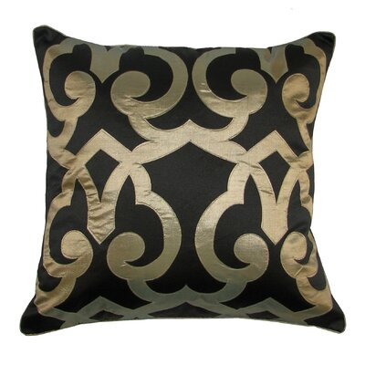 Barcelona Laser Throw Pillow Color: Black/Gold