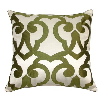 Barcelona Laser Throw Pillow Color: Cream/Lime