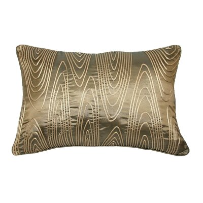Faux Bois Cord Lumbar Pillow Color: Antique Gold