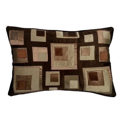 Stacked Square Lumbar Pillow Color: Chocolate