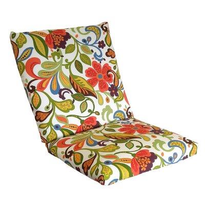 Wildwood Outdoor Lounge Chair Cushion Fabric: Garden